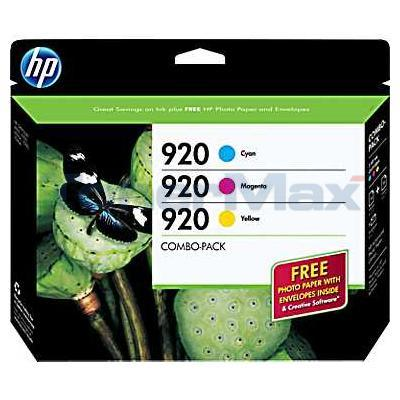 HP NO 920 INK CARTRIDGE CMY COMBO-PACK